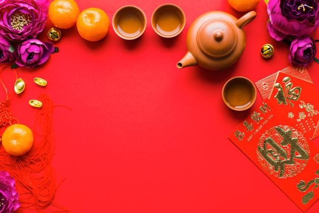 Dostawy do ceremonii parzenia herbaty