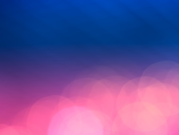 Dramatyczne, dopasowane do dołu różowe i niebieskie tło bokeh