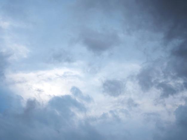 Dramatyczne niebo i szare chmury przed deszczem.
