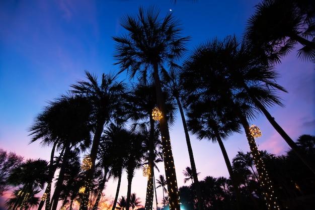 Dramatyczne piękny zachód słońca zmierzch niebo ze słońcem klimatu tropikalnego.