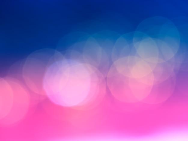 Dramatyczne różowe i niebieskie tło bokeh