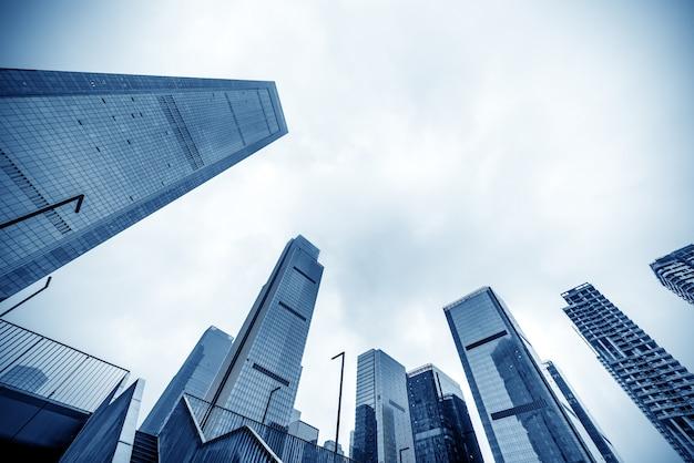 Drapacze chmur w dzielnicy finansowej