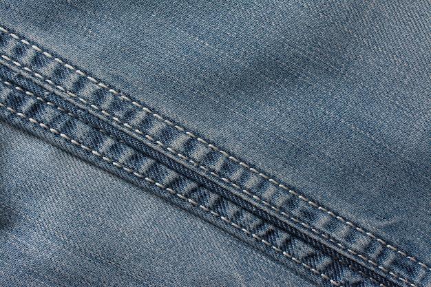 Drelichowa tekstura jeansu, tkanina bawełniana. tło tekstylne