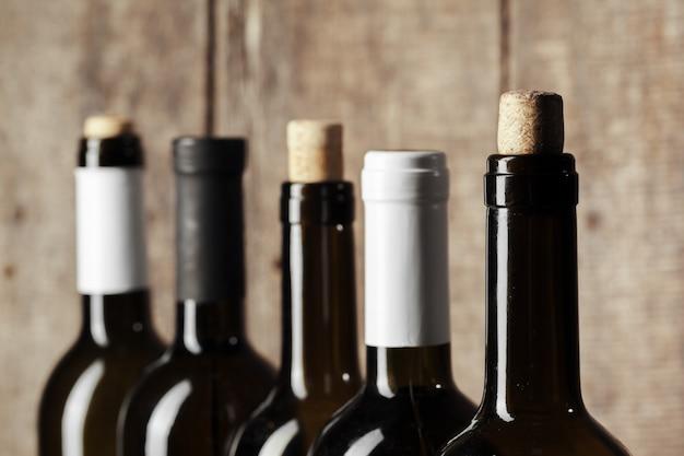 Drewniana butelka wina