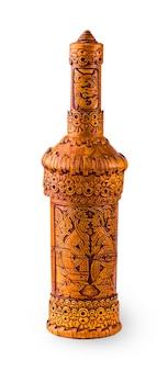Drewniana butelka z kory brzozowej