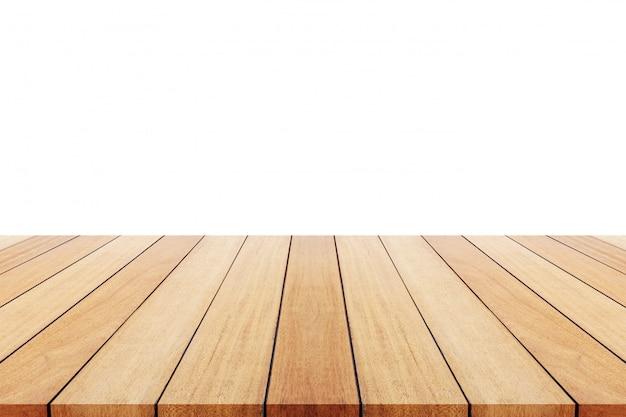 Drewniana deska lub stół i abstrakt zamazani