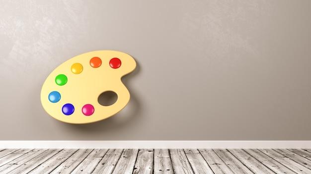 Drewniana paleta artystyczna w pokoju