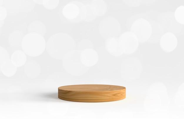 Drewniana platforma do prezentacji produktu