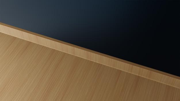Drewniana podłoga i ściana jako tło