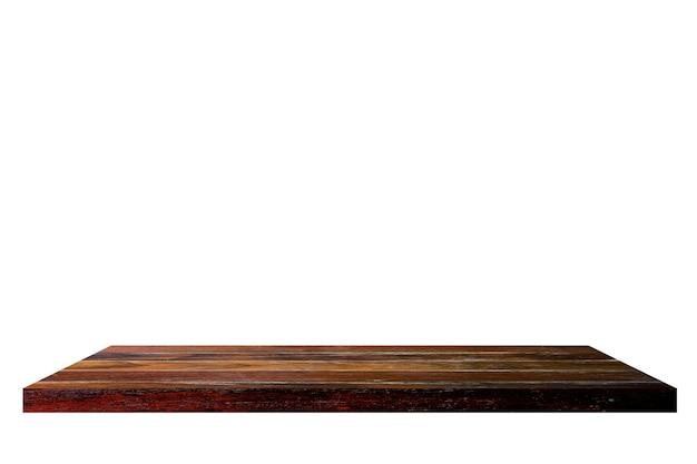 Drewniana półka na białym backgorund