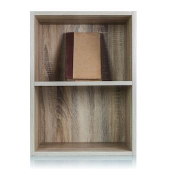 Drewniana półka na książki