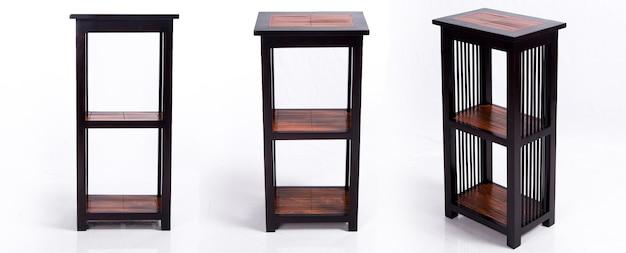 Drewniana półka w stylu azjatyckim