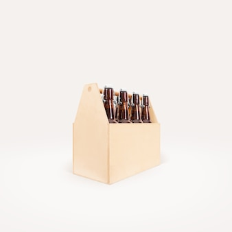 Drewniana pudełkowata piwna strona odizolowywająca