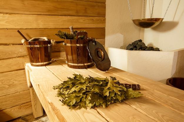 Drewniana rosyjska sauna