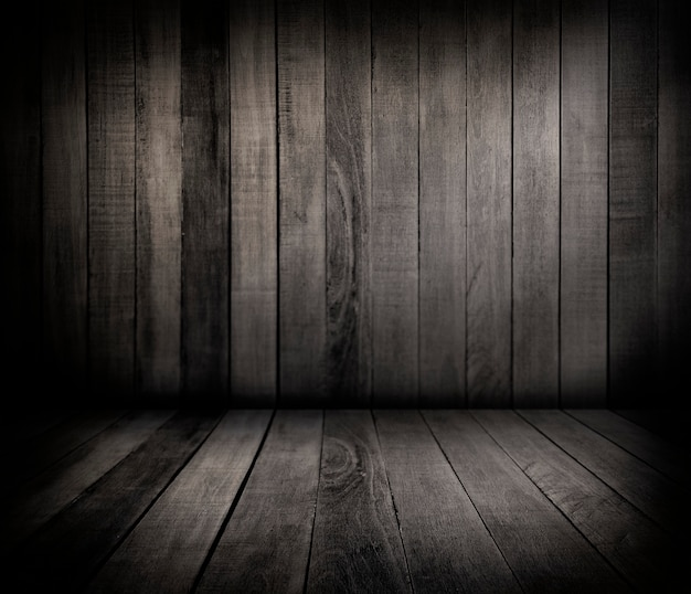 Drewniana ściana i podłoga