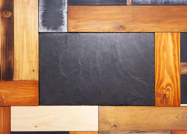 Drewniana ściana z desek lub tablica stołowa jako tekstura tła