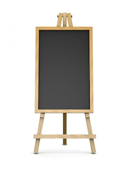 Drewniana sztaluga podtrzymująca pustą tablicę