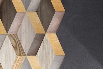Drewniane 3d nowoczesny projekt tła