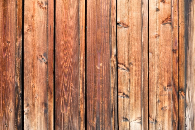 Drewniane deski brązowe piękny wzór i tekstura na tle