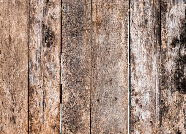 Drewniane deski brązowy wzór i tekstura na tle