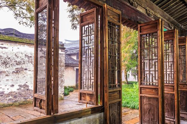 Drewniane drzwi mieszkań wuzhen