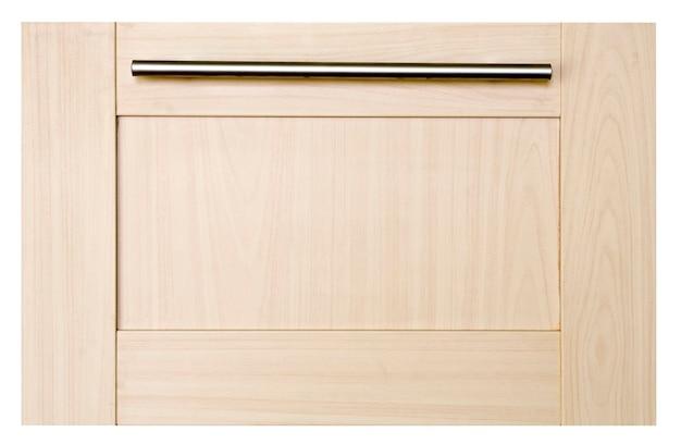 Drewniane drzwi na białym tle