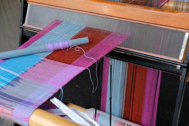 Drewniane krosno maszynowe do tkania