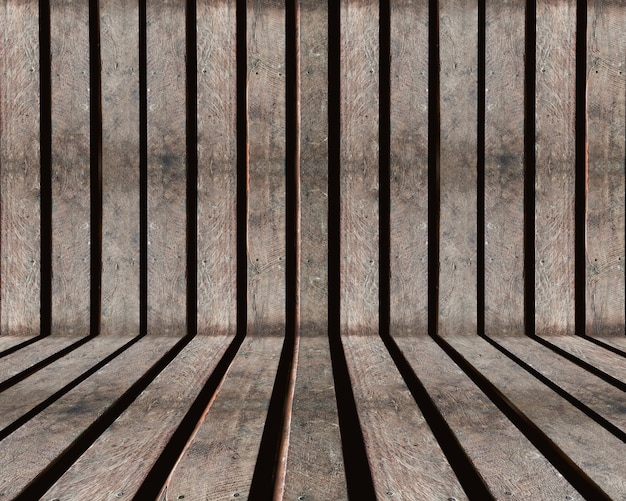 Drewniane listwy stare brązowe teksturowane tło