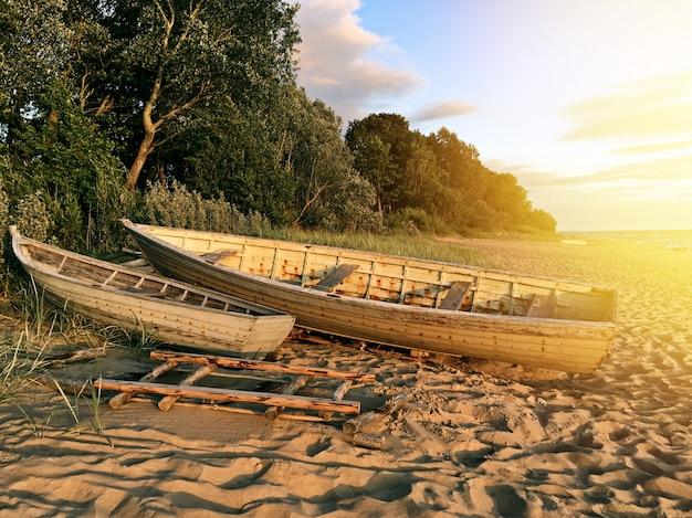 Drewniane łodzie rybackie