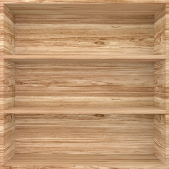 Drewniane półki 3d do gabloty