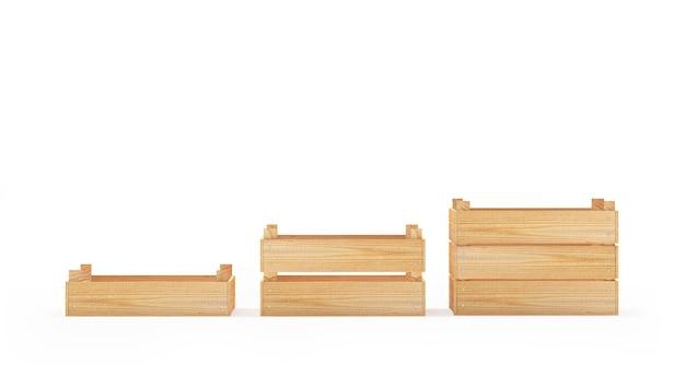 Drewniane pudełka lub palety
