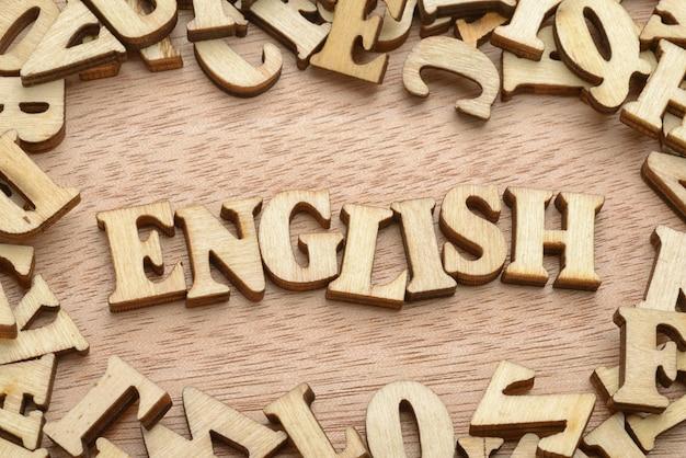 Drewniane słowo angielskie
