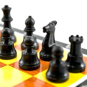 Drewniane szachy rozrywka konfrontacji pionkiem