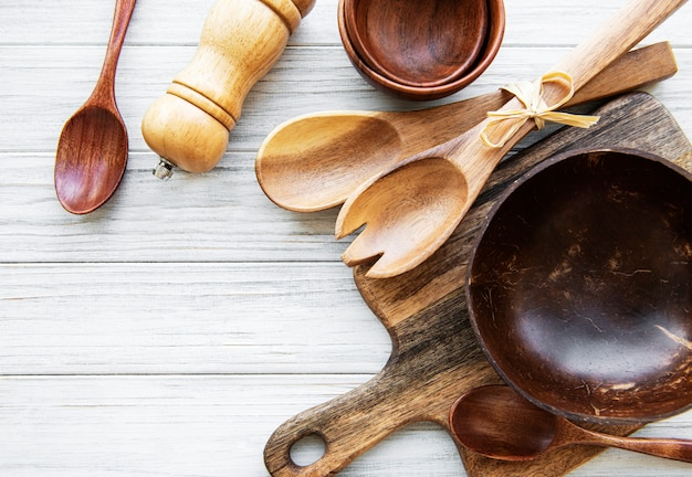 Drewniane sztućce kuchenne
