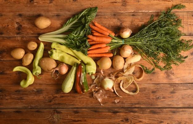 Drewniane warzywa powyżej