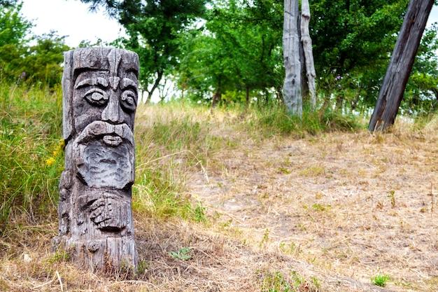 Drewniany bożek słowiańskiego boga