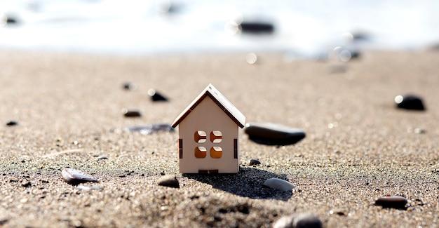 Drewniany Dom Na Plaży Premium Zdjęcia