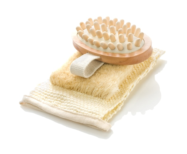 Drewniany masażer na łyku