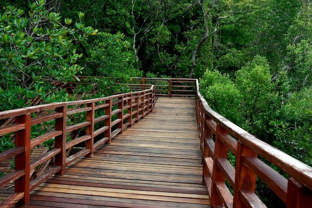 Drewniany most chodnik