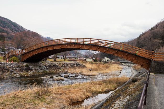 Drewniany most narai-juku, dolina kiso