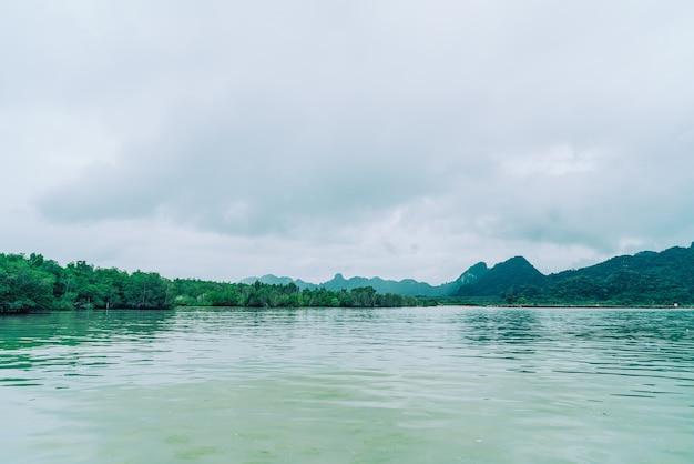 Drewniany most w talet bay w khanom, nakhon sri thammarat