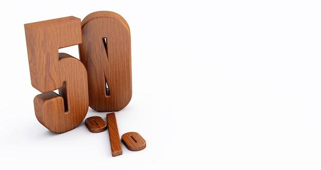 Drewniany numer na białym tle