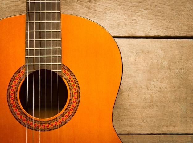 Drewniany obiekt akustycznej gitarze ciała
