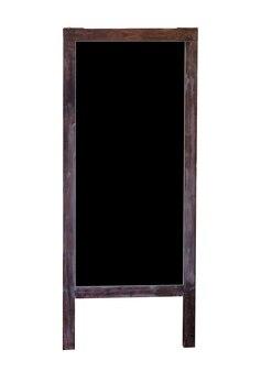 Drewniany stojak na tablicę puste, na białym tle