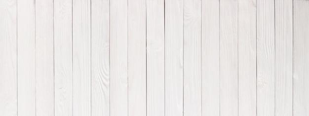 Drewniany stół lub podłoga pomalowana na biało jako tło, tekstura drewna w wysokiej rozdzielczości