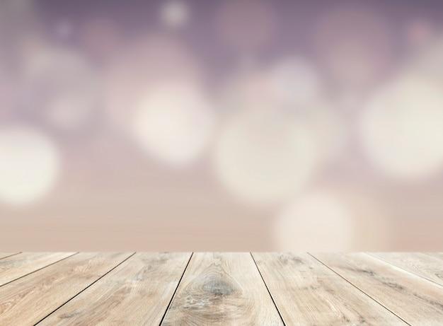 Drewniany stół produktowy tło