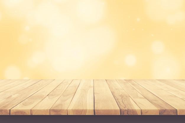 Drewniany stół. pusta tablica. tekstura drewna