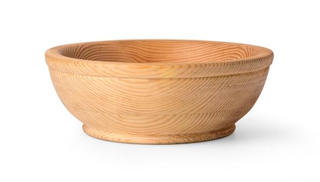 Drewniany talerz odizolowywający na bielu