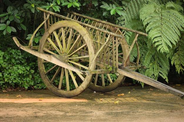 Drewniany wózek