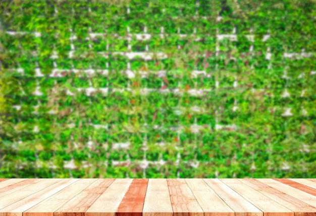 Drewniany z rośliny tłem